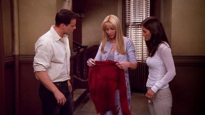 Friends S08e02 The One With The Red Sweater Summary Season 8